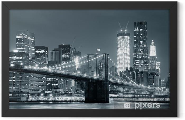 New York City Brooklyn Bridge Framed Poster -