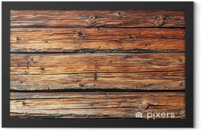 altes Holz Framed Poster - Themes