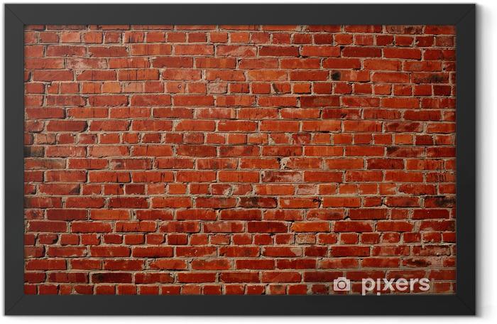 Plakat w ramie Czerwony mur z cegły -