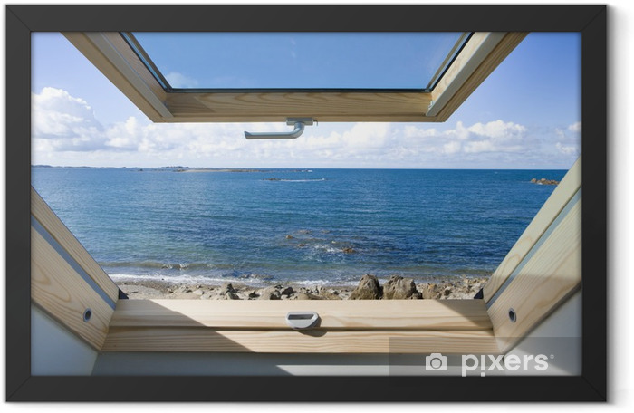 Dachfenster Framed Poster - Private Buildings
