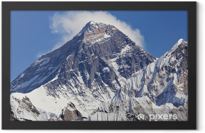 Snow-topped peak of Mount Everest Framed Poster - Themes