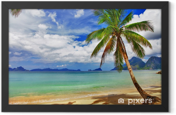 Relaxing tropical scenery Framed Poster - Themes