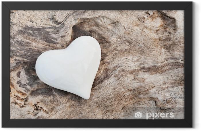 Weißes Herz Framed Poster - Styles