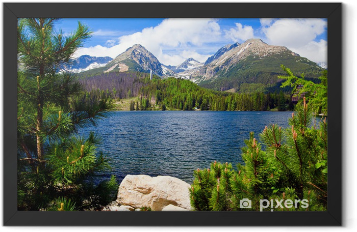 Lake in Slovakia Framed Poster - Themes