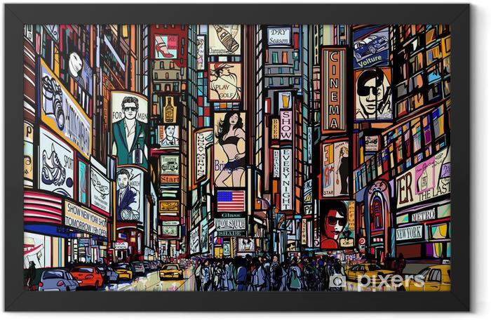 Poster en cadre Rue à New York - Art et lifestyle