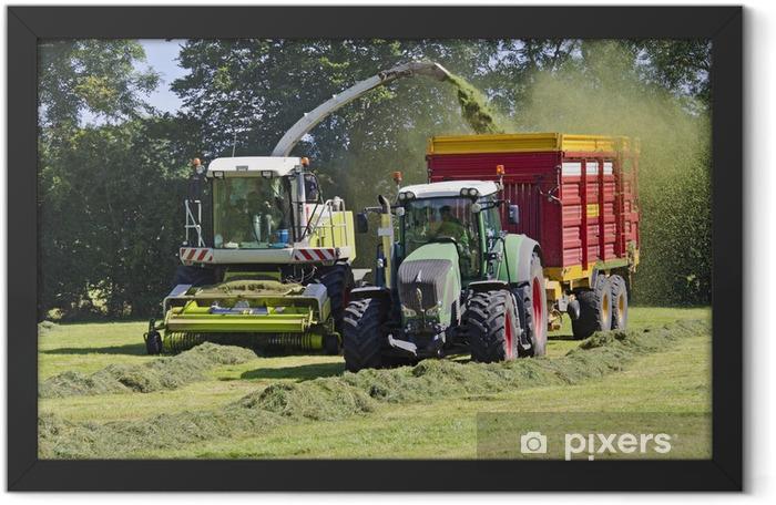 Ingelijste Poster Heuernte - Landbouw