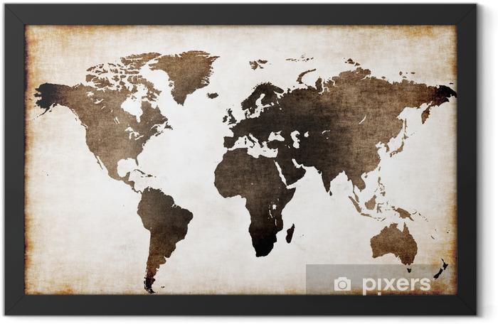 Plakat w ramie Stara mapa świata - Tematy