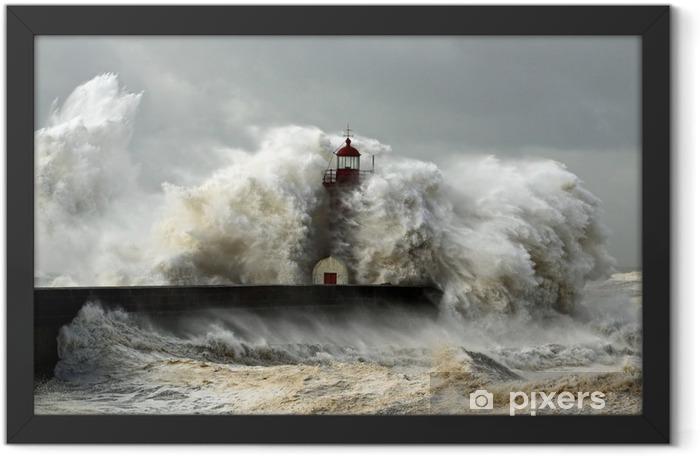 Plakat w ramie Wietrzne wybrzeże - Latarnia morska