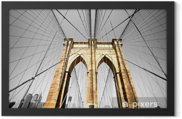 Plakat w ramie Brooklyn Bridge, Nowy Jork. USA. -