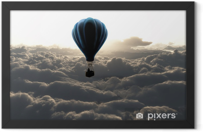 Hot air balloon in the sky Framed Poster - Styles