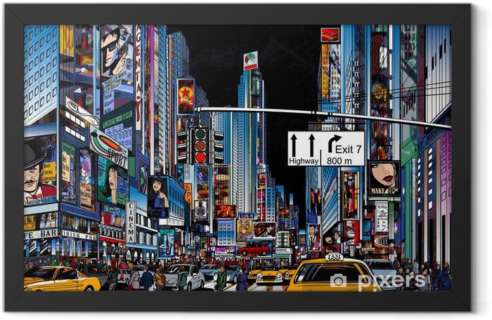 street in New York city Framed Poster -