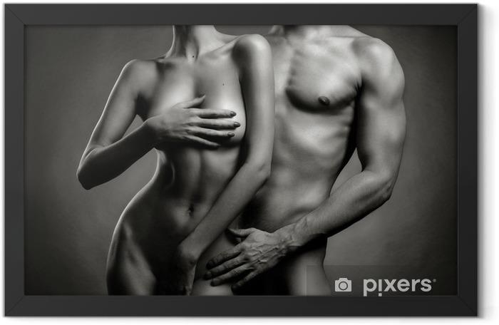 Ingelijste Poster Naakt sensuele paar - Naaktheid