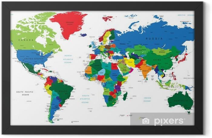 Plakat w ramie Światowa mapa-państwa - Tematy