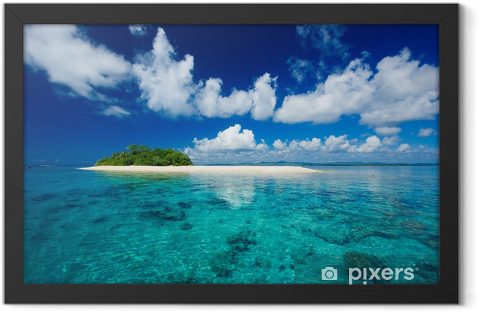Tropical island vacation paradise Framed Poster - Palm trees