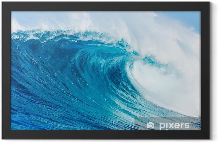 Plakat w ramie Błękitna fala - Plaża i tropiki