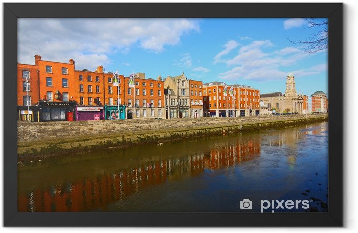 Dublin and The Liffey river Framed Poster - Europe