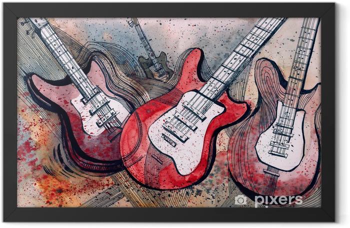 guitar music Framed Poster -