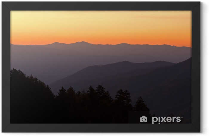 Sunrise Newfound Gap Great Smoky Mountains Framed Poster - Mountains