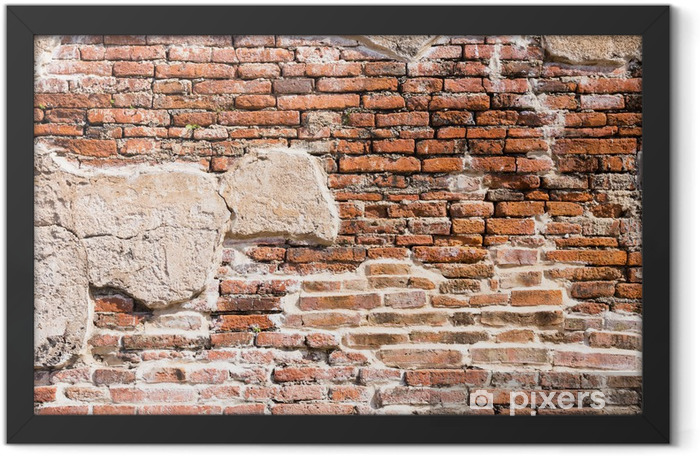 Ancient brick wall fragment Framed Poster - Themes