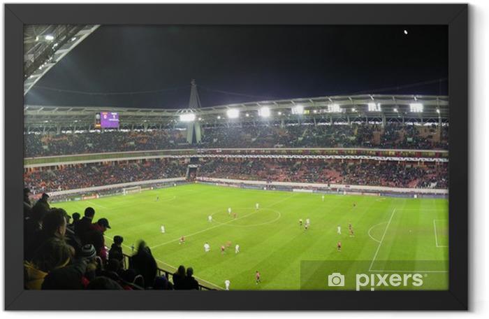 Poster en cadre Panorama de stade de football - Sports collectifs
