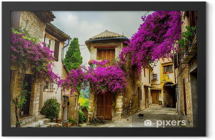 Plakat w ramie Sztuki piękne stare miasto w Prowansji - Tematy