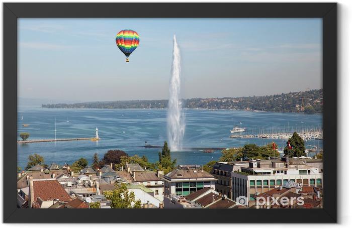 Poster en cadre La ville de Genève en Suisse, une vue générale et aérienne - Europe