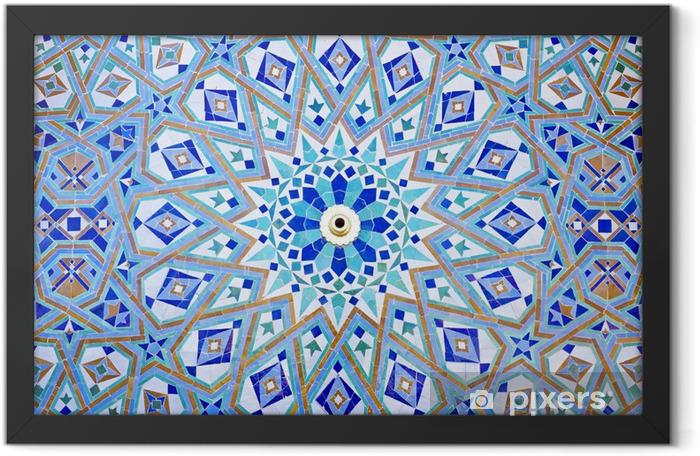 Plakat w ramie Mozaika na orientalne meczet Hassana II w Casablance, Maroko - Maroko