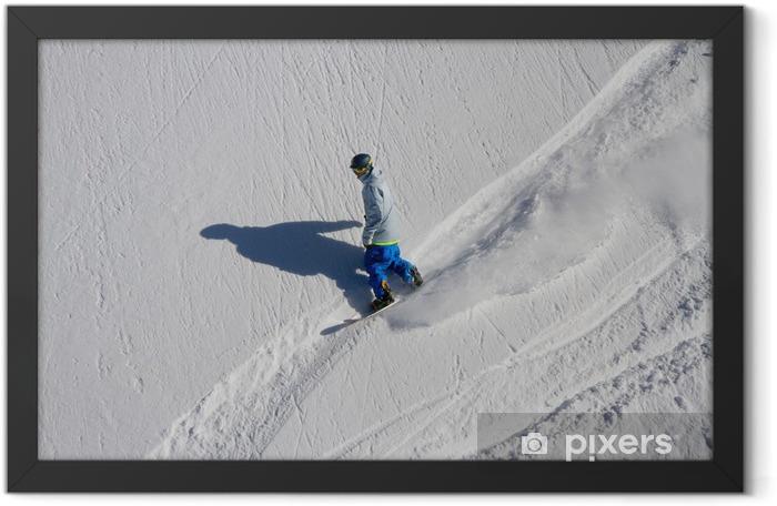 Snowboard freerider Framed Poster - Winter Sports