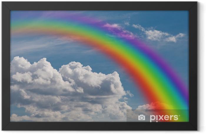 Poster en cadre Arc en ciel dans les nuages - Les arcs-en-ciel