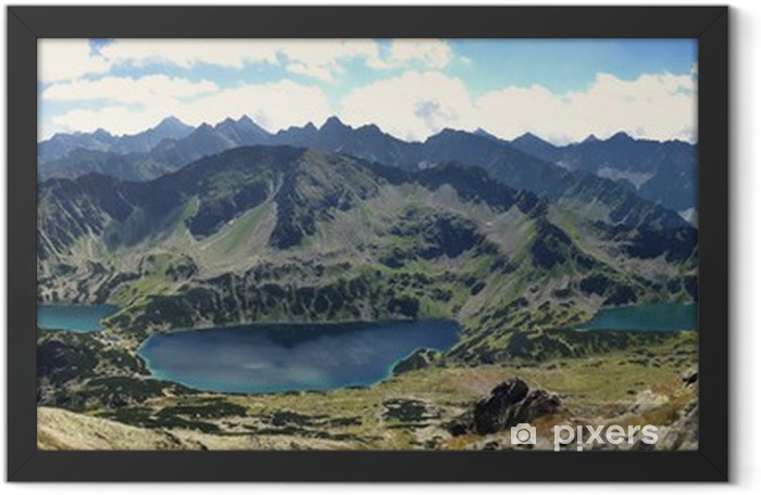Panorama Tatr Dolina Pięciu Stawów Framed Poster - Themes