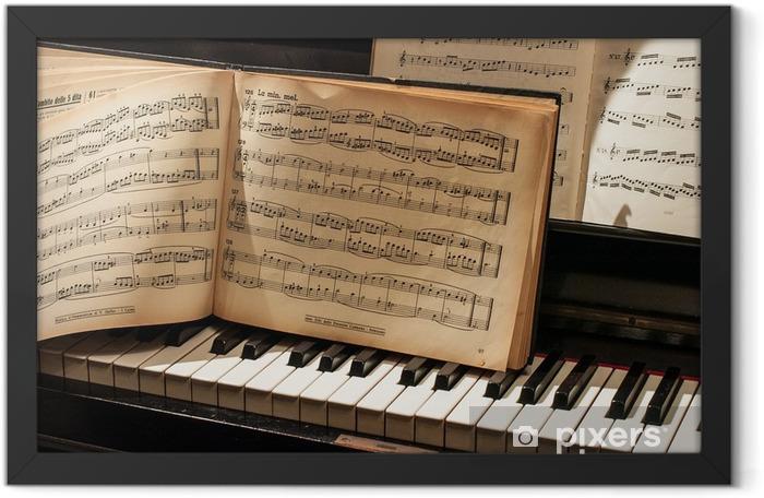 pianoforte con spartito Framed Poster - Music