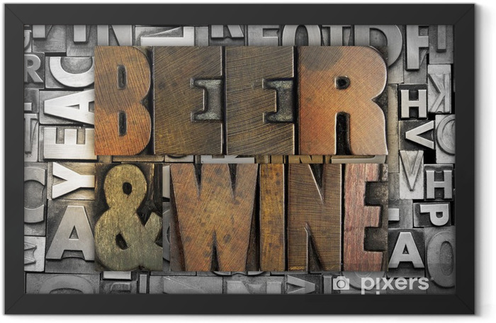 Beer and Wine Framed Poster - Textures