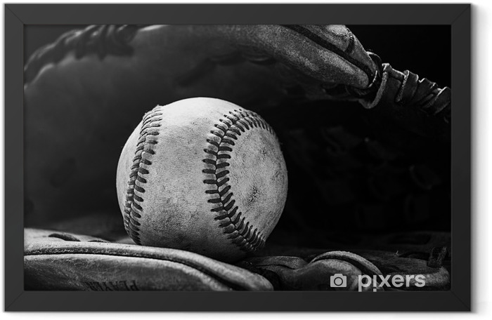 Baseball glove with a ball Framed Poster - America
