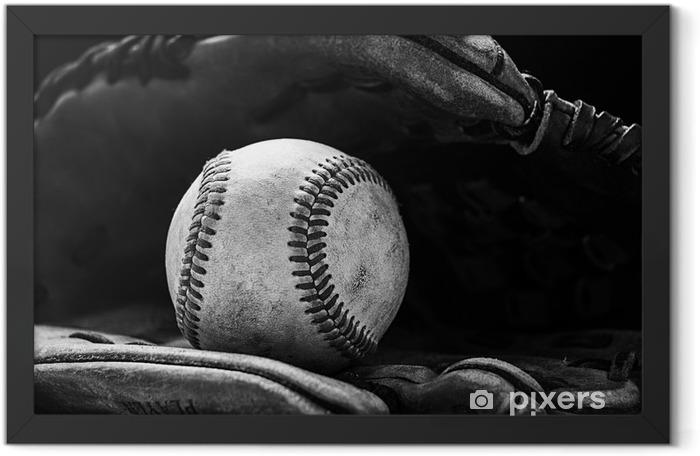 Plakat w ramie Baseball w piłkę - Ameryka