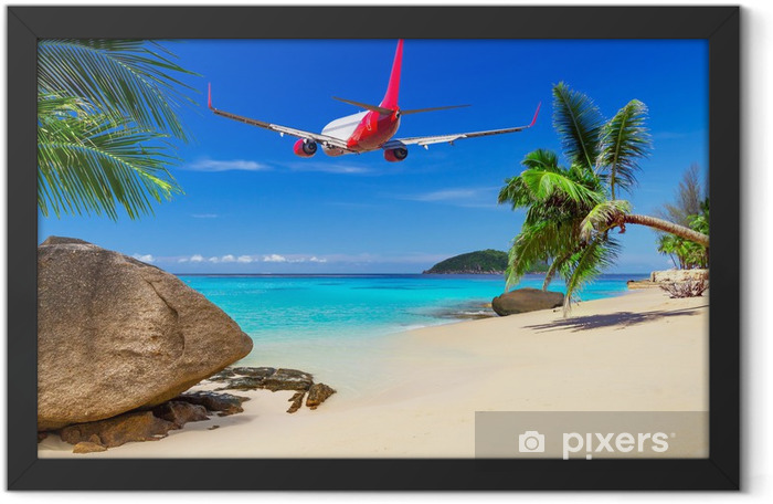 Tropical holidays on the sunny beach Framed Poster - Palm trees