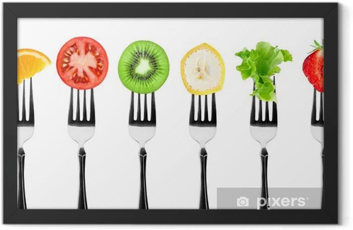 Plakat w ramie Owoce i warzywa - Naklejki na ścianę