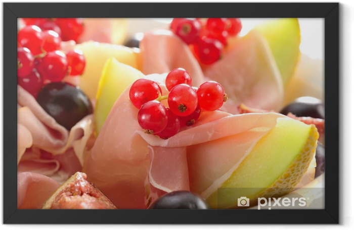 Ham and melon Framed Poster - Themes