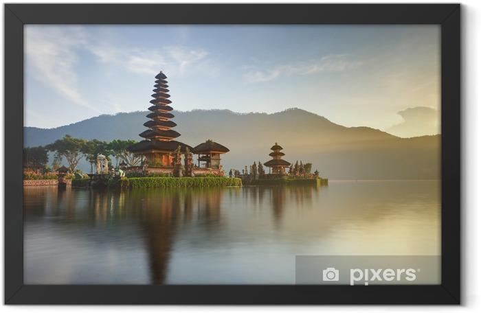 Ulun Danu temple on Bratan lake, Bali, Indonesia Framed Poster - Lakes