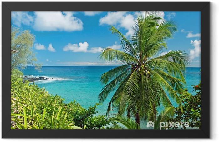Hawaii paradise on Maui island Framed Poster - Themes