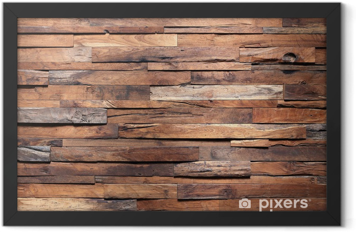 timber wood wall texture background Framed Poster - Themes