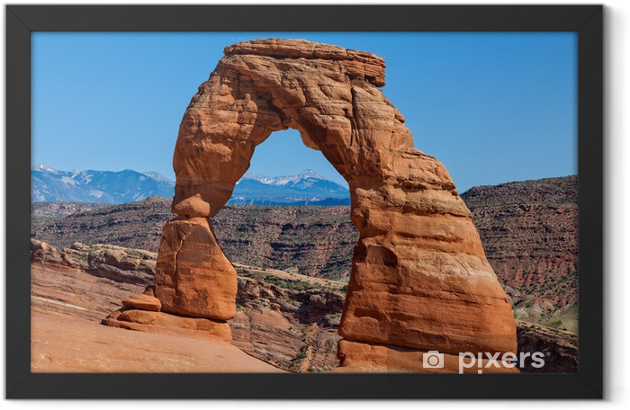Delicate arch, Arches N.P. Utah Framed Poster - America
