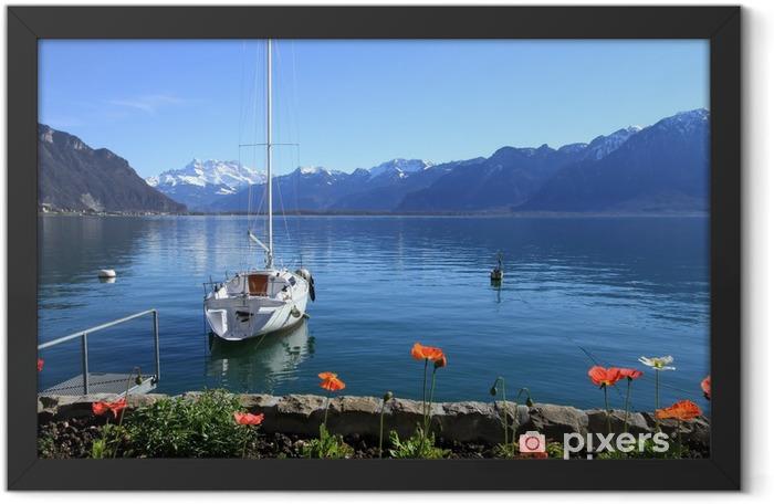 Poster en cadre Genève paysages lacustres, Suisse - Europe