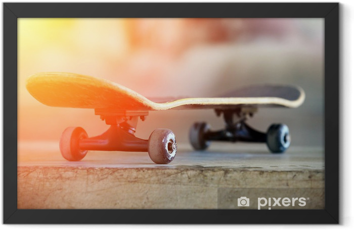 .Used skateboard Framed Poster - Skateboarding