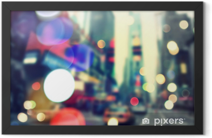 Blurred bokeh New York Framed Poster - American Cities
