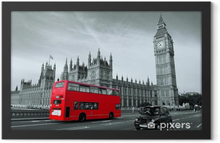 Plakat w ramie Autobus w Londynie -