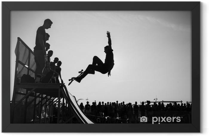 Jump Framed Poster - Skateboarding