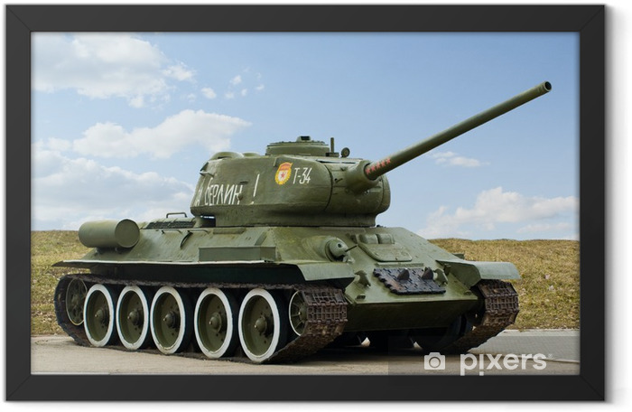 The 2nd World War Russian Tank T34 Framed Poster - Themes