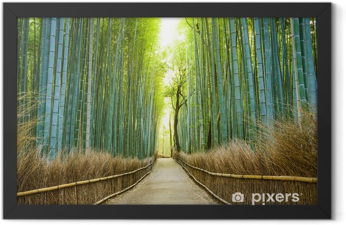 Poster en cadre Kyoto, Japon Bamboo Forest - iStaging
