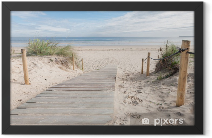 A path to the beach Framed Poster - Destinations