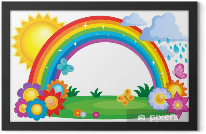 Rainbow topic image 2 Framed Poster - Backgrounds